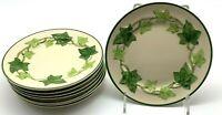"Franciscan green ivy dessert plates lot of 8 California  6 1/4 """