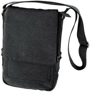 Vintage Canvas Tablet Messenger Bag, Tech Case Travel Shoulder Pouch Army Camo