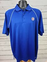 MLB Genuine Apparel True Fan Cubs Polo / Chicago / Short Sleeve / Blue / Men's M