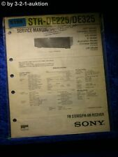Sony Service Manual STR DE225 /DE325 FM/AM Receiver (#5198)