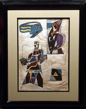 """Neal Doty """"Flashback Doors""""w/custom frame H.Signed Intaglio Etching w/embossing"""