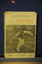 1927 -  MANUALE HOEPLI - IL TENNIS - SECONDA EDIZIONE
