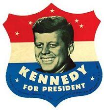 JFK - John F. Kennedy For President  1960's style  Bumper Sticker decal