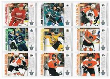 10-11 SCORE PLAYOFF HEROES 9 CARD LOT...PRONGER..GAGNE..BRIERE..LEINO..RECCHI...