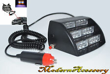 AMBER/WHITE FLASHING 3 MODE 18 LED STROBE LIGHT JEEP SAFETY TRAFFIC LAMP PANEL