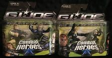 G.I. JOE Combat Heroes Duke Hauser Baroness Cobra Commander Two Pack Lot