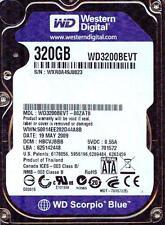 WD3200BEVT-00ZAT0  HBCVJBBB,  SATA, WESTERN DIGITAL 320GB