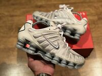 NIKE SHOX TL BONE METALLIC MENS TRAINERS UK 6.5 EUR40.5 US7.5 CT8417 001 NEW