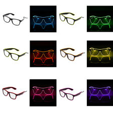 dcdec69acc2f LED EL Wire Glasses Light Up Glow Glasses Eyewear Shades for Nightclub Party