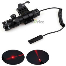 Tactical Red Laser Sight Gun Remote Pressure Switch W/ Picatinny Rail Mount