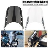 Universel Pare Brise Moto Déflecteur Pour 5-7'' Phare Honda Yamaha Suzuki Harley