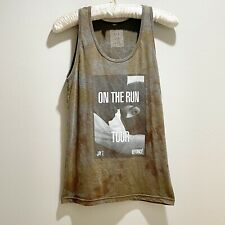 Jay Z Beyonce 2014 On The Run Tour Tie Dye Tank Top Music Concert Graphic Tee L