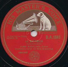 """JUSSI BJÖRLING 'Nessun Dorma' - D. A. 1841 - Vinyl 10"""" 78 RPM 1944 - EX"""