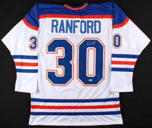 Bill Ranford Signed Oilers White Jersey (Beckett COA) Playing career 1985–2000