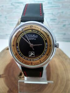 USSR SPORT watch SLAVA quartz movement and unique ALL-IN-ONE step motor 3056A