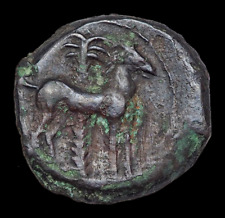 Carthage. Circa 400-350 Bc. Æ, Tanit / Horse by palm tree