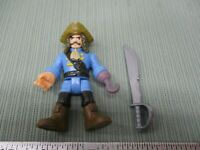 Imaginext Fisher Price Great Adventures Pirate Ship Sword Captain Blue Hook Part