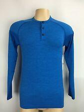 Lululemon Metal Vent Tech LS Henley Shirt Size XXL Riviera Blue NWT