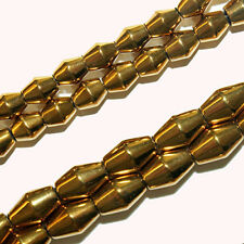 MAGNETIC HEMATITE BEADS BICONE BARREL GOLD 6X8MM JEWELRY CRAFT BEAD STRANDS EH20