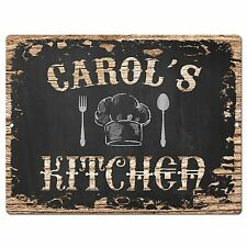 PP1709 CAROL'S KITCHEN Plate Chic Sign Home Room Kitchen Decor Birthday Gift