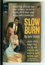 SLOW BURN by Jack Ehrlich, Dell #B220 crime noir gga pulp vintage pb Abbett art