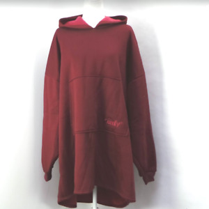 Comfy Hoodie Oversized Unlined Knit Sweatshirt Burgundy