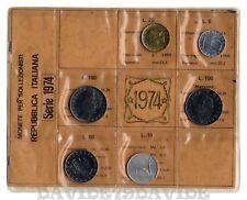 REPUBBLICA ITALIANA  DIVISIONALE ITALIA MONETE 1974 CON MARCONI - 6 VALORI - FDC