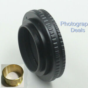 Brass M42 to M42 10mm-15.5mm Adjustable Focus Helicoid Adapter Macro Mount Tube