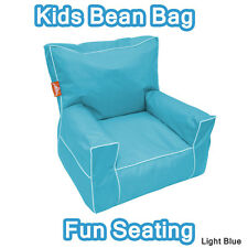 Light Blue Indoor Outdoor Kids Sofa Bean Bag Seater Chair Lounge Cover