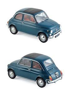 1/18 Norev Fiat 500 L 1968 Blue Neuf Boite D'Origine Livraison Domicile