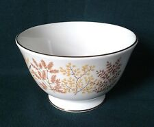 ROYAL VALE SUGAR BOWL FINE BONE CHINA TEA SET SUGAR BASIN BROWN & YELLOW LEAVES