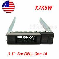 "For Dell X7K8W gen 14 G14 for R740 R740xd R7415 R640 3.5"" HDD TRAY CADDY"