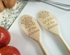 King of the Kitchen Queen of the Kitchen Personalised Spoon Gifts for Him or Her