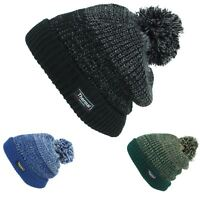 Beanie Hat Cap Warm Winter BLUE GREEN Bobble Thinsulate 3M Men Ladies Knit Ski