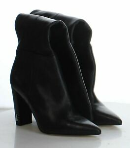 42-12 MSRP $275 Women's Size 6M Sam Edelman Raakel Black Leather Tall Boots