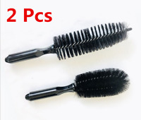 2Pcs Car Wheel Cleaning Brush Tool Tire Washing Clean Alloy Soft Bristle Cleaner