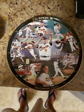"""Cal Ripken Jr Limited Edition Commemorative Plate - danbury mint with stand 12"""""""