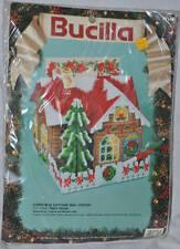 Bucilla Christmas Cottage Mail Center Needlepoint Plastic Canvas Kit #61146 New