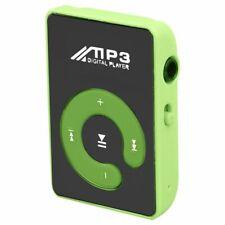 2X(Mini Mirror Clip Usb Digital Mp3 Music Player Support 8Gb Sd Tf Card Gre U6E8