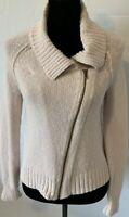 Women's J Crew Zip Cardigan Sweater Jacket Size S Small