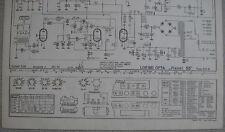LOEWE OPTA Typ 539 W Planet 55 Schaltplan Ausgabe 2, Stand 01/54