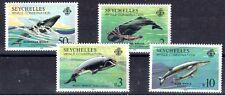 MAMMIFERE MARIN BALEINE Seychelles 4val de 1984 ** PROTECTION DES BALEINES WHALE