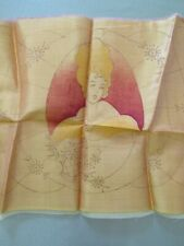 Antique 1930s Pre-Stamped Quilted Boudoir Pillow To Embroider & Quilt Lady