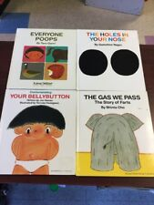 Lot Of 4 KANE MILLER Books All Hc GAS WE PASS Everyone Poops BELLYBUTTON Nose