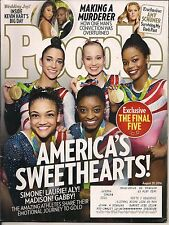 WOMEN GYMNASTIC OLYMPIC TEAM PEOPLE 2016 SIMONE LAURIE ALY MADISON GABBY GOLD