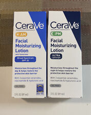 2 CeraVe AM/ PM Facial Moisturizing Lotion - 3 FL OZ (2 Pack )
