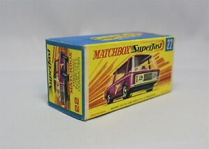 "Matchbox Lesney Superfast No22 FREEMAN COMUMUTER "" RARE Empty BOX WITHOUT NEW """