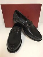 Donald J Pliner Salvo-01 Black Leather Loafer w/ Tortoise Bit Made in Italy