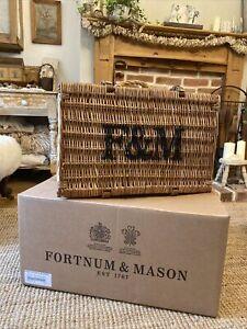 Fortnum And Mason Hamper Basket With Original Box