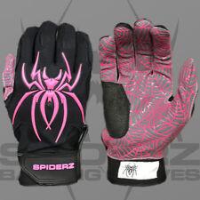 Spiderz HYBRID BLACK/PINK XXL ADULT BATTING GLOVES, NEW